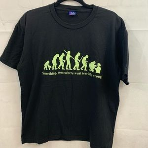 Team two mens funny black t-shirt size large